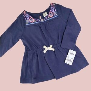 Toddler Top with Embroidered-like Design